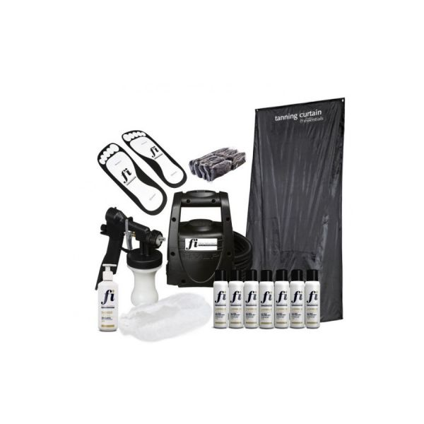 Spray Tan kit with TS20 spray tan machine and curtain and spray tan solution